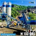 PROMAX  Mobile Concrete Batching Plant M100-SNG (100m/H)