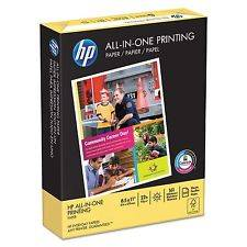 Wholesale white paper: HP All-In-One Printing Paper, 22lb, 96 Bright, 8 12 X 11, White, 500 Sheets Rea