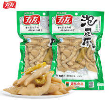 Wholesale pickled: 5 PCS X 180g Chinese Food Spicy Chicken Feet with Pickled Peppers Vacuum-packed