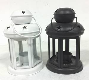 Wholesale wax led candle: Metal Black Candle Holder Lantern