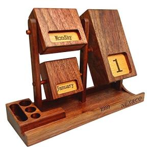 Wholesale Wood Crafts: Rotating Wooden Perpetual Calendar