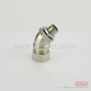 Wholesale brass fitting: Nickel Plated Brass 45d Conduit Fittings Wire Harnesses Go Through