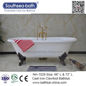 Wholesale bath powder: NH-1028 Clawfoot Double Ended Freestanding Soaking Cast Iron Bath Tubs