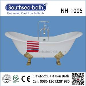 Wholesale pc 765: NH-1005 Freestanding Cheap Soaking Cast Iron Bath Tub