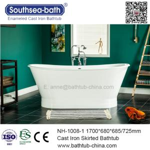 Wholesale bath tub: Freestanding Skirted Cast Iron Bath Tub