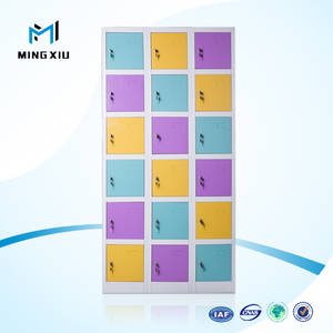 Wholesale Store & Supermarket Supplies: Low Price High Quality 18 Door Stainless Steel Lockers Cabinets / Metal Lockers