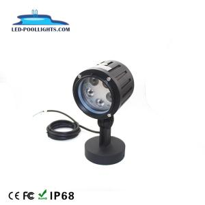 Wholesale led lamp: 15W IP65 Landscape Light Fitting LED Garden Lamp/Light Waterproof Light (Round or Spike Base)