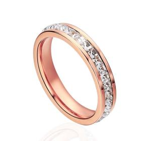 Wholesale stainless steel jewellery: High Quality Diamond Stainless Steel Jewellery Ring Fashion Ring