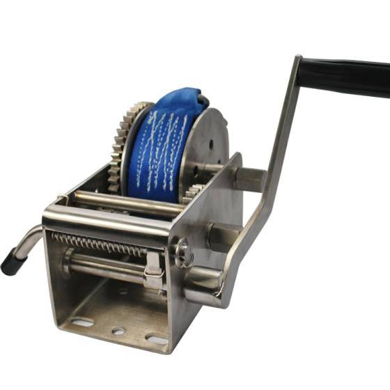 Sell china supplier 3300lbs 3 gear ratio hand winch trailer winch