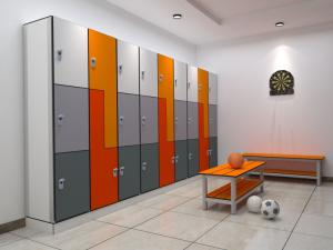 Wholesale hpl door: Fumeihua Waterproof Sauna Changing Room Hpl Locker