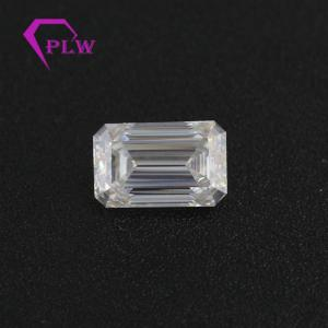 Wholesale manufacturer from china: Excellent Cutting  2ct Emerald Cut Loose Moissanite From China Manufacturer