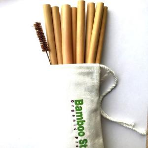 Wholesale cotton brushes: Hot Amazon Seller Drinking Straw Bamboo Straw with Brush