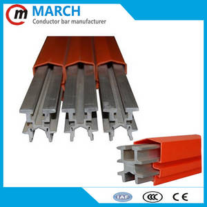 Wholesale trolley cases: MCCB III Insulated Conductor Bars and Accessories for Cable Trolley ,Galvanized Steel Rail