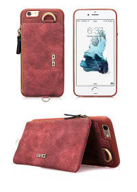 Wholesale leather cover case: PU Leather Case for Iphone 7 7 Plus 6 6s 6s Plus Retro Wallet Cover Protective Mobile Phone Bag