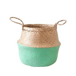 Wholesale seagrass: Colorful Eco-friendly Belly Seagrass Basket