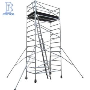Wholesale mobile scaffold: Internal Ladder Aluminum Scaffolding/ Ascending Mobile Scaffolding Tower