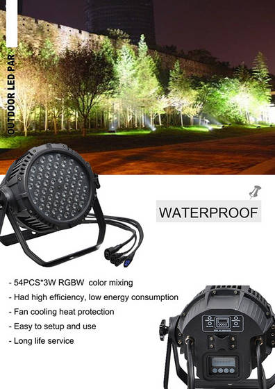 led lights: Sell  Outdoor Waterproof IP65 RGBW 54X3w  LED PAR Can Light