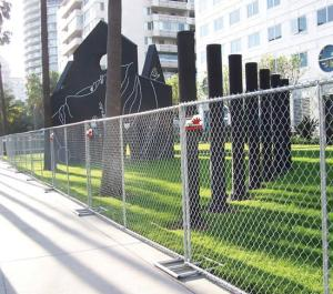 Wholesale chain link temporary fence: Galvanized Chain Link Used Portable Fence in Australia Style