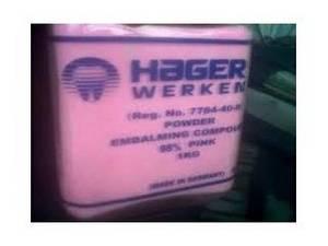 Wholesale embalming powder: Hager Werken Embalming Powder +27761657618