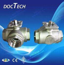 Wholesale cryogenic service valve: 3-way Ball Valve