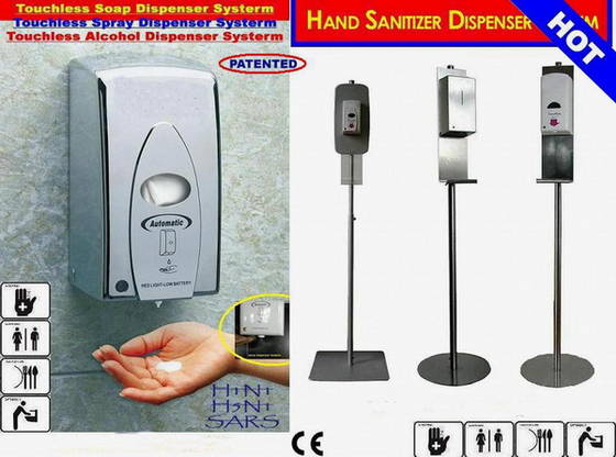 Sell touchless stainless steel spray and foam sanitizer dispenser