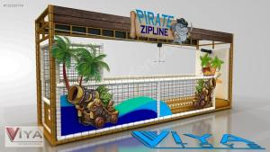Wholesale outdoor playground: Children Adventure Indoor & Outdoor Playground Zip Line