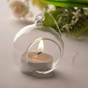 Wholesale tealight candle holder: Haning Crystal Candle Holders
