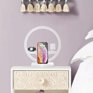 Wholesale with led: LED Table Lamp with Wireless Charger Kit for Phone & Apple Watch, Earpods