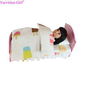 Wholesale cheap girls top: Fashion Doll Furniture 18 Inch Doll Accessories Bed