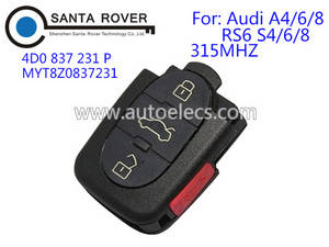 Wholesale locksmith tools: Keyless Entry for Audi Remote Key 3+1 Button 4D0 837 231 P 315Mhz