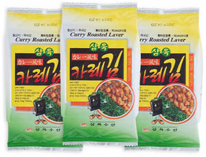Wholesale Fish & Seafood: Curryroasted Seaweed(laver) 3dosirac