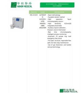 Wholesale hba1c: Glycosylated Hemoglobin Analyzer