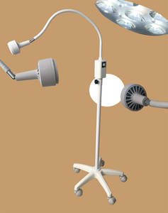 Wholesale light bulb: LED Minor Surgical Light KS-Q6 in White Rail Clamp Type with 6 LED Bulbs, Medical Equipment, Examine