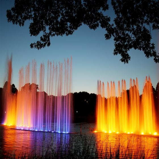 Chinese Musical Water Fountain with DMX512 Underwater Light
