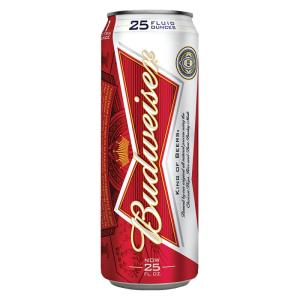 Wholesale crown: Budweiser Beer Black Crown, 25ml Can All Text Available