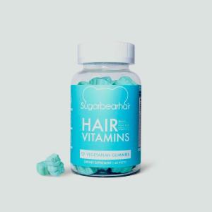 Wholesale hair vitamins: Sugar Bear Hair Vitamins 60 Vegetarian Gummies Biotin Berry Flavour New