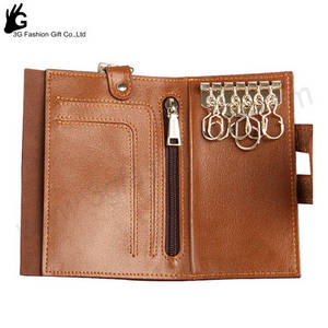 Wholesale Coin Purses & Key Wallets: Promotional Leather Magic Key Chain Custom Leather Key Holder