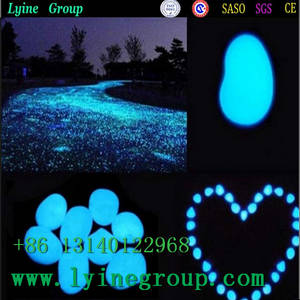 Wholesale luminous pebbles: Beautiful Luminous Stone Gardening Flat Round Pebble