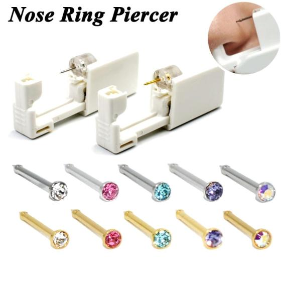 Disposable Nose Stud Piercing Units Body Jewelry Ear Helix Traguse Cartilag