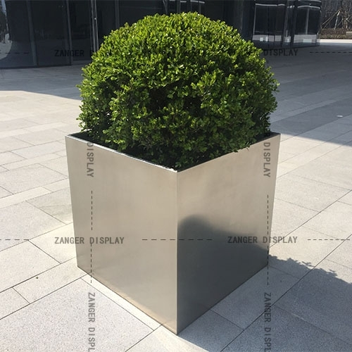 Square Stainless Steel Planters