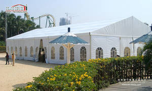 Wholesale fire resistant flooring: 500 People Wedding Tent 15x40m Party Tent with Glass Wall and Solid Wall