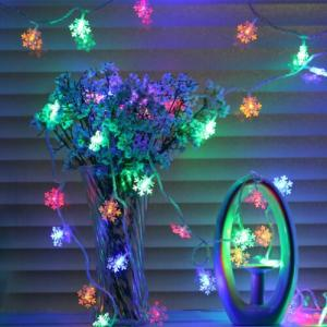 Wholesale decorative string lights: 23M String Lights Snowflake Xmas Tree Christmas Party Home Warm Lamp Decor