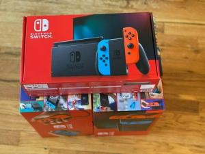 Wholesale switche: Nintendo Switch 32GB Console Video Games W/ 32GB Memory Card | Neon Red/Neon Blue Joy-Con |