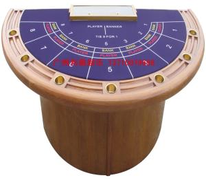 Wholesale card tables: Half Circle 7-person Baccarat Table