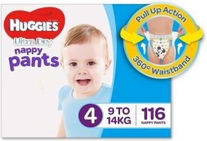 Wholesale packing tape: Huggies New Dry, Taped Diapers, Medium Size Combo Pack of 2, 60 Counts Per Pack, 120 Counts