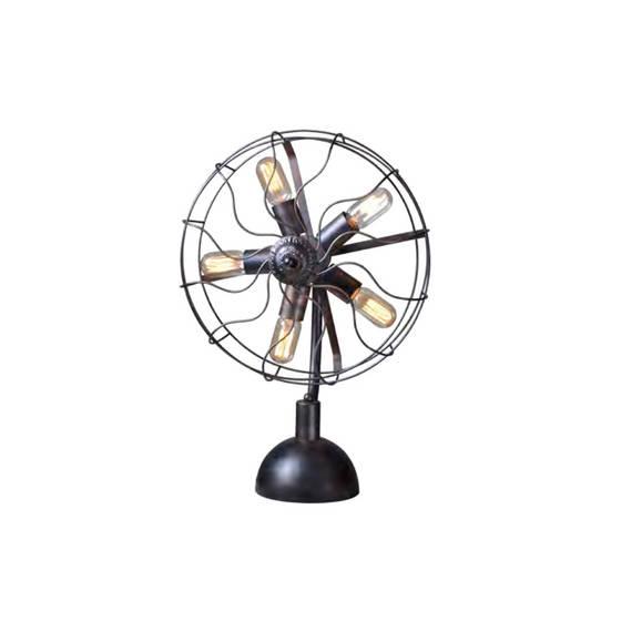 Portable Lighting: Sell ORIZEAL Gweat Loft Industrial Black Table Light with Fan Shape OZ-AL707