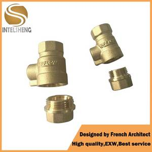 Wholesale stop valve: Mini Type Brass Water No Locking Handle Ball Stop Valve