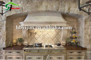 Wholesale marble kitchen counter tops: New Style Natural Random Decoration Stone Modern Kitchen Cabinets Designs