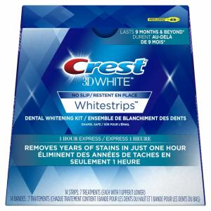 Wholesale express: CREST 3D 1 HOUR EXPRESS Whitestrips White Strips Stripes Teeth Whitening Whiten