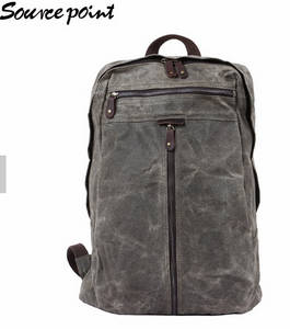 Wholesale leather backpack for men: YD-5385  Waxed Canvas Waterproof Laptop Men's Backpack